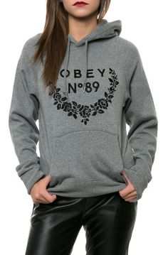 The Seygrid Hoodie in Gunmetal Heather by Obey need just cuz it says 89 lol