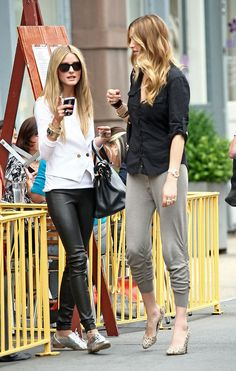You can add flair with flats in a cool sheen or dress up joggers with heels. Shoes can make all the differe...