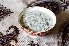 A staple dish of Azerbaijani cuisine, soup with fresh herbs and chickpeas, dovgha, is very delicious, refreshing, and nutritious. Get the recipe here.