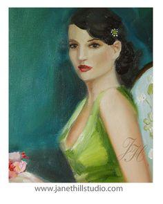 Ein Porträt von Frau Beauchamp.  Kunstdruck von janethillstudio, $38.00