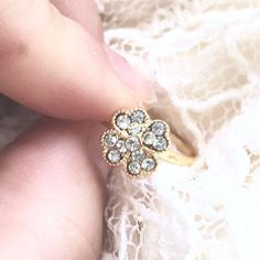 Four-Leaf Clover Ring / Adjustable St. Patty's Day by fifteen75