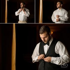 Groom prep portrait Captured by EXO Photography & Cinema Groom Looks, Cinematography, A Team, Photo Booth, Exo, Wedding Photography, Portrait, Photos, Wedding Shot