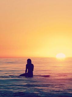 #Surf #girl... sunset...