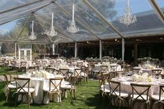 Clear tent wedding reception at Duke Gardens via Southern Bride and Groom Magazine http://gardens.duke.edu/rentals/weddings