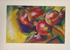 """Pomegranate"" Mix Media Mix Media, Pomegranate, Painting, Art, Craft Art, Grenada, Paintings, Pomegranates, Kunst"