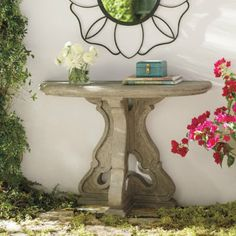 Elegant and charming, the Arabella Console Table will captivate your guests into thinking they've stumbled upon an enchanting garden. Ottoman Table, Garden Equipment, Crushed Stone, Garden Ornaments, Flower Boxes, Stone Carving, Entryway Tables, Console Tables, Grandin Road