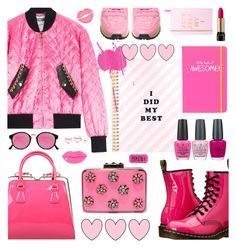 """""""PINK FUN"""" by cutandpaste ❤ liked on Polyvore featuring Dr. Martens, Like Dreams, Moschino, RetroSuperFuture, Valentino, Happy Jackson, OPI, STELLA McCARTNEY, Lancôme and Suzy Levian"""