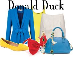 """Donald Duck"" by lauren-claire-bacher ❤ liked on Polyvore"