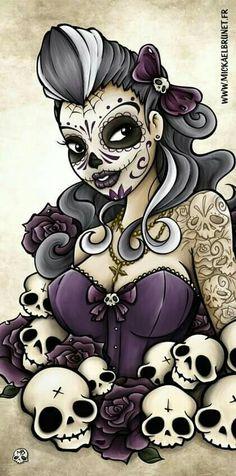 Sugar Skull pin up