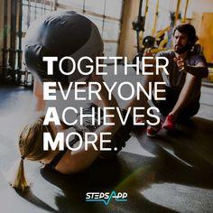 Whether you're doing 10 steps or a fitness workout, it's easier in a team! 💥 #teamspirit #10ksteps #stepsapp  #teamwork #team #motivation #teambuilding