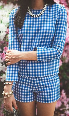 Vichy Gingham Short Set