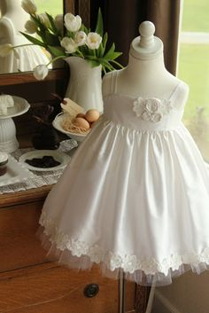 Silk Easter Dress from Girl Inspired - but it looks as though the bodice may need some adjustment once it was on her daughter. Girls Easter Dresses, Little Dresses, Little Girl Dresses, Cute Dresses, Girls Dresses, Flower Girl Dresses, Dress Girl, Baby Dresses, Flower Girls