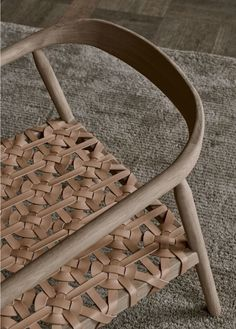 In Love with this Solid Wood with Woven Leather Chair – Fay Armchair and Ottom. - In Love with this Solid Wood with Woven Leather Chair – Fay Armchair and Ottoman Design by Mia Cu - Cool Furniture, Furniture Design, Leather Furniture, Leather Interior, Ratan Furniture, Leather Stool, Leather Seats, Leather Chairs, Tan Leather