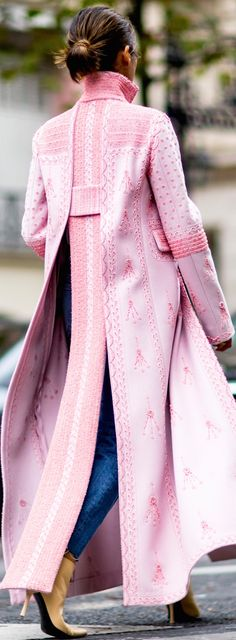 Lovely pink coat.