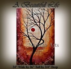 PAINTING A Beautiful Life Original Abstract Modern by artgallerys, $325.00