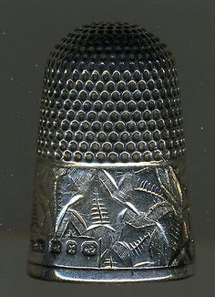 Lot of 3 Antique Sterling Silver Thimbles: Griffiths, Horner in Antiques, Sewing (Pre-1930), Thimbles | eBay