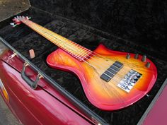 One of the original Brubaker Phoenix Extreme 5 string basses. Just sold on eBay, on its way to a new home!
