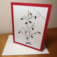 Handmade Christmas Card Charlie Brown Tree by T4SmudgeCreations, $3.50
