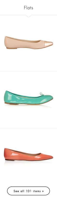 """""""Flats"""" by giovanna1995 ❤ liked on Polyvore featuring Pumps, flats, shoes, nude ballet flats, metallic flats, nude ballet pumps, ballet shoes, metallic pointed toe flats, jade and bow flats"""