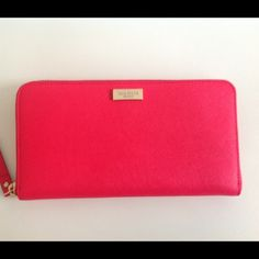 KATE SPADE NEDA WALLET DESSERT ROSE PINK ZIPAROUND 100% authentic, cheaper with paypal and mercari kate spade Bags Wallets