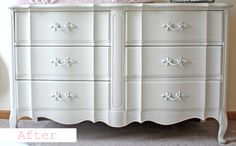 Vintage dresser makeover-  Before & After Projects- The Magic of Paint!