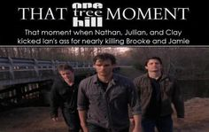 When Nathan, Julian and Clay kicked Ian's ass for nearly killing Brooke and Jamie