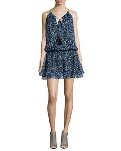 Swirl Kenji Sleeveless Dress, Mineral Blue by Elizabeth and James at Neiman Marcus.