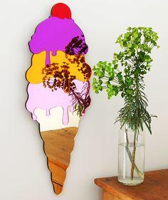 ice cream cone mirror
