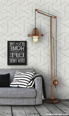 Inspiring Modern Wall Texture Design for Home Interior Grey Wallpaper Vintage, Black And White Wallpaper, Wallpaper Decor, Gray Wallpaper, Interior Wallpaper, Wallpaper Ideas, Wall Texture Design, Wall Design, House Design