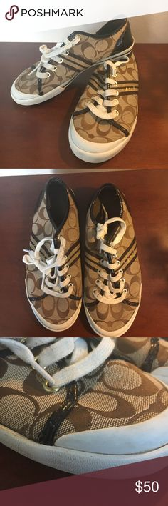 Coach tennis shoes sneakers EUC! Signs of normal wear. Just freshly cleaned and ready for the next owner! Coach Shoes Sneakers