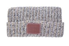 Love Your Melon Rock Leather Patched Cuffed Beanie