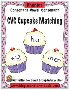 CVC Cupcake Matching - pinned by @PediaStaff – Please Visit  ht.ly/63sNt for all our pediatric therapy pins