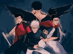 One Punch Man - Puri-Puri-Prisoner, Metal Bat, Bang and Atomic Samurai