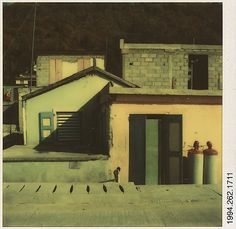 [Building Facades, Marigot, St. Martin's, French West Indies]  Walker Evans  (American, St. Louis, Missouri 1903–1975 New Haven, Connecticut)  Date: April 4, 1974 Medium: Instant color print