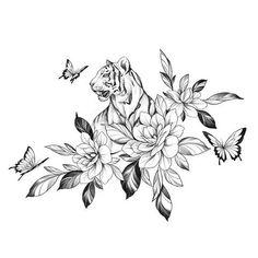 B Tattoo, Doodle Tattoo, Tiger Tattoo, Mandala Tattoo, Arm Band Tattoo, Little Tattoos, Cute Tattoos, Beautiful Tattoos, Tatoos