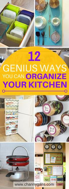 These kitchen organization ideas are AWESOME! Now I can easily organize my kitchen! I'm definitely repinning! #organization #kitchenorganization #organizing