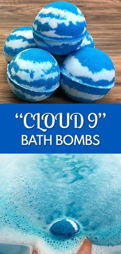 DIY Lavender Bath Bombs Ingredients: This recipe creates about 12 bath bombs. 16 ounces of organic cornstarch 16 ounces of Baking Soda ounces Citric Acid 1 cup Epsom Cloud 9, Diy Cloud, Disney Diy, Wine Bottle Crafts, Jar Crafts, Bath Bomb Ingredients, Homemade Bath Bombs, Diy Bath Bombs, Homemade Soaps