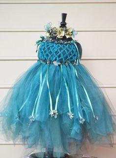 Enchanted Fairy Ware Peacock Blue Dress by enchantedfairyco, $199.99