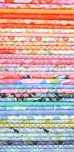 Beautiful fabric on this blog.  honey honey ©kate spain Ordering the navy and coral for master bdrm curtains :)