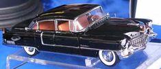 Franklin Mint 1955 Cadillac Fleetwood black Rally Ltd Ed 3,000 1:24 diecast model