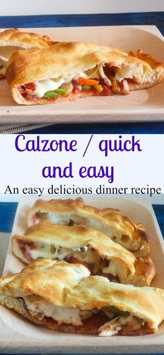 An easy homemade Calzone recipe, with a delicious pizza filling, perfect with homemade dough or frozen. A yummy easy dinner recipe./anitalianinmykitchen.com