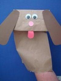 pup bag puppet