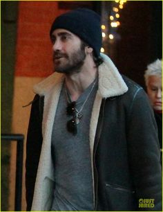 Jake Gyllenhaal looks like he's channeling Jordan Catalano in this shot.