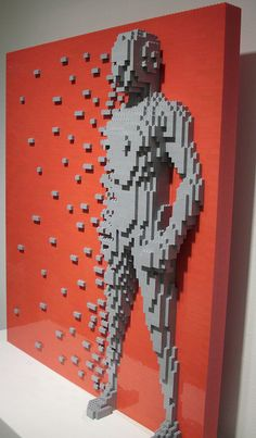 Disintegration, when the world is pulling you apart. The Art Of The Brick by Nathan Sawaya