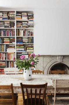 Rustic chic personal home library