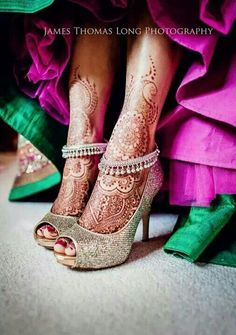 I have this exact same silver anklet from India. I can't wait to get all henna'd up before getting married (just sleeves). My friends neighbor is the lady that did Kim Kardashian's recent party.