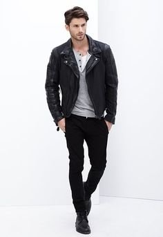 viper coated denim biker jacket - Google Search