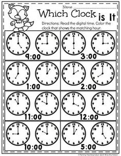 Digital and Analog Clocks – Telling Time Worksheets - Education and lifestyle Clock Worksheets, Money Worksheets, Kindergarten Math Activities, Kindergarten Math Worksheets, School Worksheets, Homeschool Math, Worksheets For Kids, Maths, Telling Time Activities