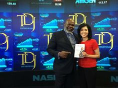 Never thought I'd see my corporate logo beside Nasdaq @newyorkstockexchange! Thanks Chitra! Great Interview!