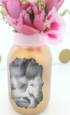 Mother's Day Photograph Vase | CatchMyParty.com